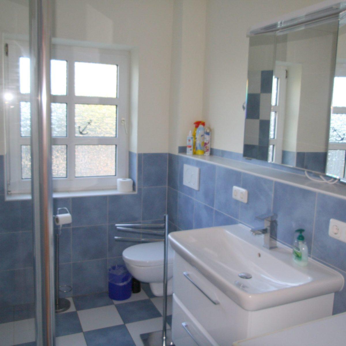 Dusche + WC im Erdgeschoss